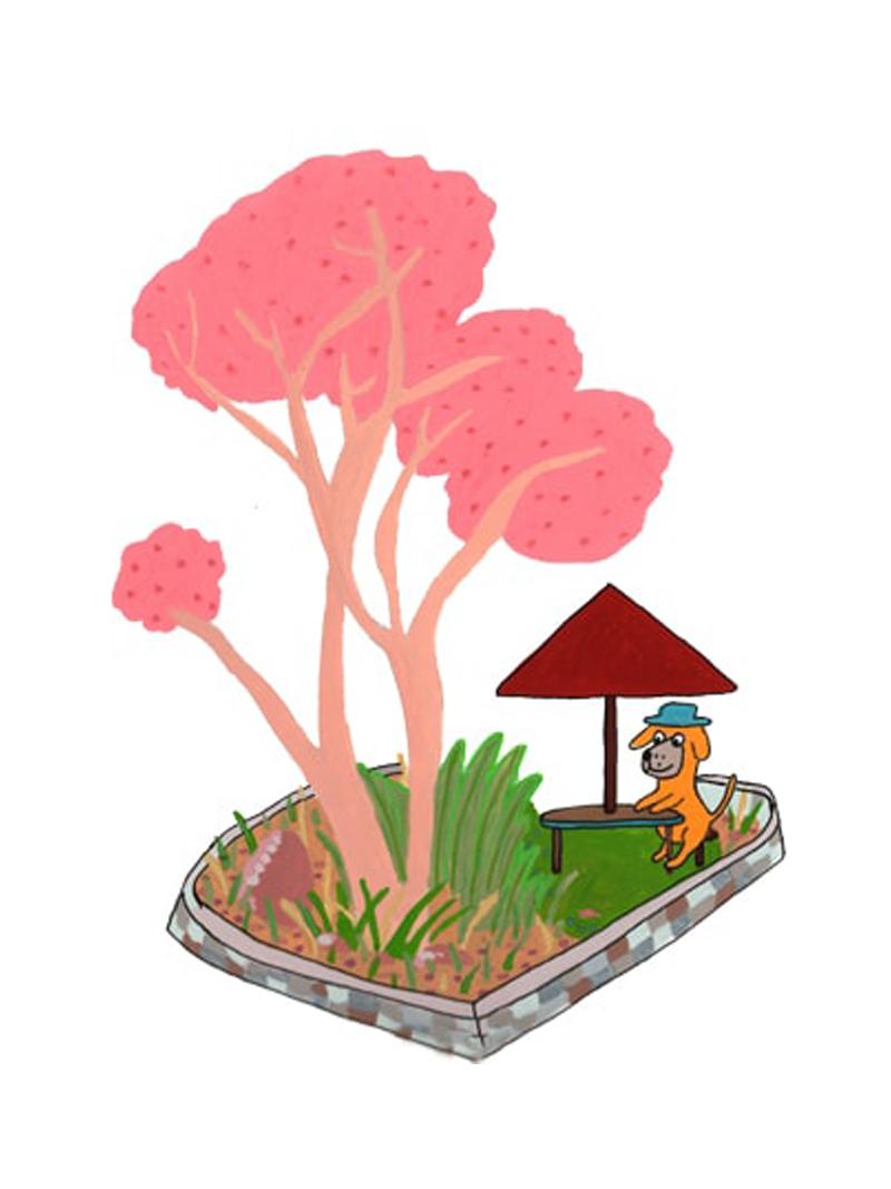 Leslie's Art - Dog and Tree